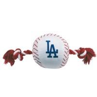 Los Angeles Dodgers Nylon Baseball Rope Tug Dog Toy