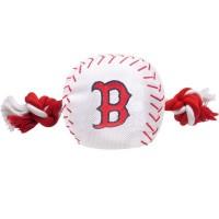 Boston Red Sox Nylon Baseball Rope Tug Dog Toy