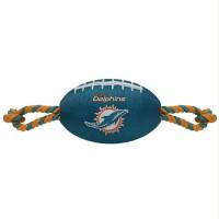 Miami Dolphins Pet Nylon Football