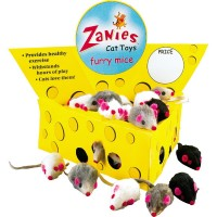 Furry Mice  - 10 pack - Cat Toy