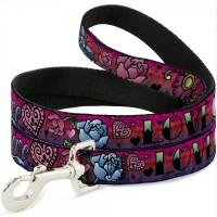 Buckle-Down Love Love Pink Pet Leash