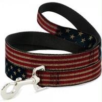 Buckle-Down Vintage US Flag Pet Leash