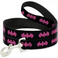 Buckle-Down Batman Signal Fuchsia Pet Leash