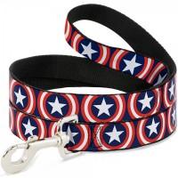 Buckle-Down Captain America Shield Navy Pet Leash