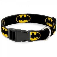 Buckle-Down Batman Shield Yellow Pet Collar