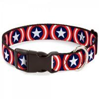 Buckle-Down Captain America Shield Navy Pet Collar