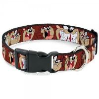 Buckle-Down Tasmanian Devil Expressions Pet Collar