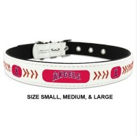 Los Angeles Angels Classic Leather Baseball Pet Collar