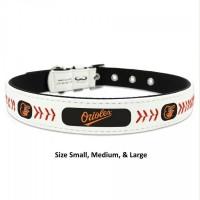 Baltimore Orioles Classic Leather Baseball Pet Collar