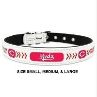Cincinnati Reds Classic Leather Baseball Pet Collar
