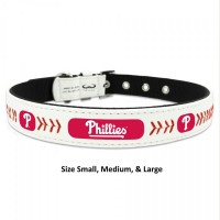 Philadelphia Phillies Classic Leather Baseball Pet Collar