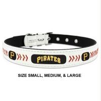 Pittsburgh Pirates Classic Leather Baseball Pet Collar
