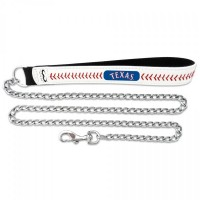 Texas Rangers Leather Baseball Seam Pet Leash