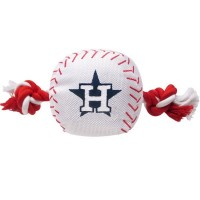 Houston Astros Nylon Baseball Rope Tug Dog Toy