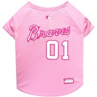 Atlanta Braves Pink Pet Jersey