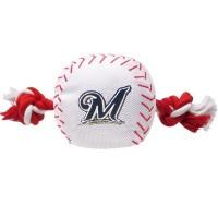 Milwaukee Brewers Nylon Baseball Rope Tug Dog Toy