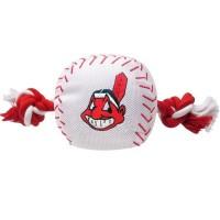 Cleveland Indians Nylon Baseball Rope Tug Dog Toy