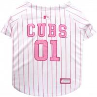 Chicago Cubs Pink Pet Jersey