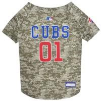 Chicago Cubs Pet Camo Jersey