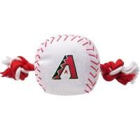 Arizona Diamondbacks Nylon Baseball Rope Tug Dog Toy