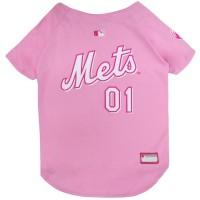 New York Mets Pet Pink Jersey