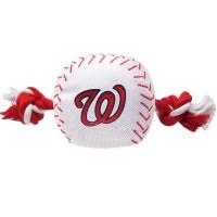 Washington Nationals Nylon Baseball Rope Tug Dog Toy