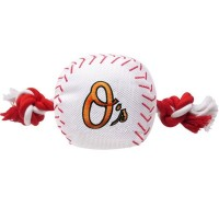Baltimore Orioles Nylon Baseball Rope Tug Dog Toy