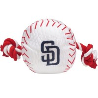 San Diego Padres Nylon Baseball Rope Tug Dog Toy