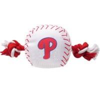 Philadelphia Phillies Nylon Baseball Rope Tug Dog Toy