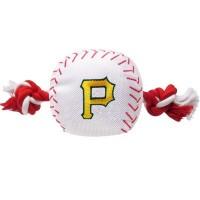Pittsburgh Pirates Nylon Baseball Rope Tug Dog Toy
