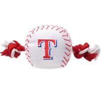 Texas Rangers Nylon Baseball Rope Tug Dog Toy