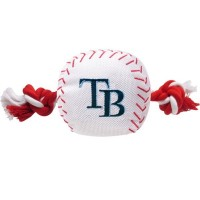 Tampa Bay Rays Nylon Baseball Rope Tug Dog Toy
