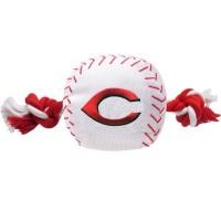 Cincinnati Reds Nylon Baseball Rope Tug Dog Toy