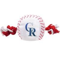 Colorado Rockies Nylon Baseball Rope Tug Dog Toy