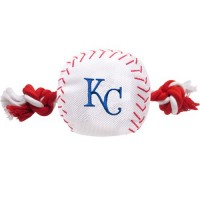 Kansas City Royals Nylon Baseball Rope Tug Dog Toy