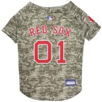 Boston Red Sox Pet Camo Jersey