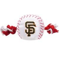 San Francisco Giants Nylon Baseball Rope Tug Dog Toy