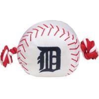 Detroit Tigers Nylon Baseball Rope Tug Dog Toy