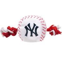 New York Yankees Nylon Baseball Rope Tug Dog Toy