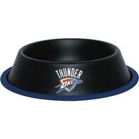 Oklahoma City Thunder Gloss Black Pet Bowl