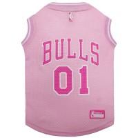 Chicago Bulls Pet Pink Jersey