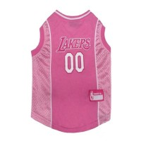 Los Angeles Lakers Pink Pet Jersey