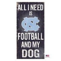 North Carolina Tarheels Distressed Football And My Dog Sign