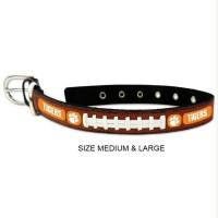 Clemson Tigers Classic Leather Football Pet Collar