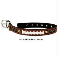 Iowa Hawkeyes Classic Leather Football Pet Collar