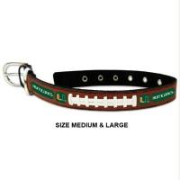 Miami Hurricanes Classic Leather Football Pet Collar