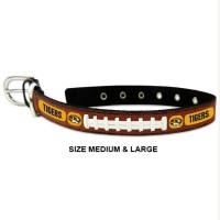 Missouri Tigers Classic Leather Football Pet Collar