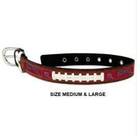 South Carolina Gamecocks Classic Leather Football Pet Collar