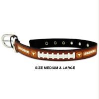 Texas Longhorns Classic Leather Football Pet Collar