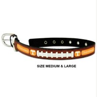 Tennessee Volunteers Classic Leather Football Pet Collar
